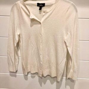 Off white cashmere sweater. Woman's medium, Jcrew